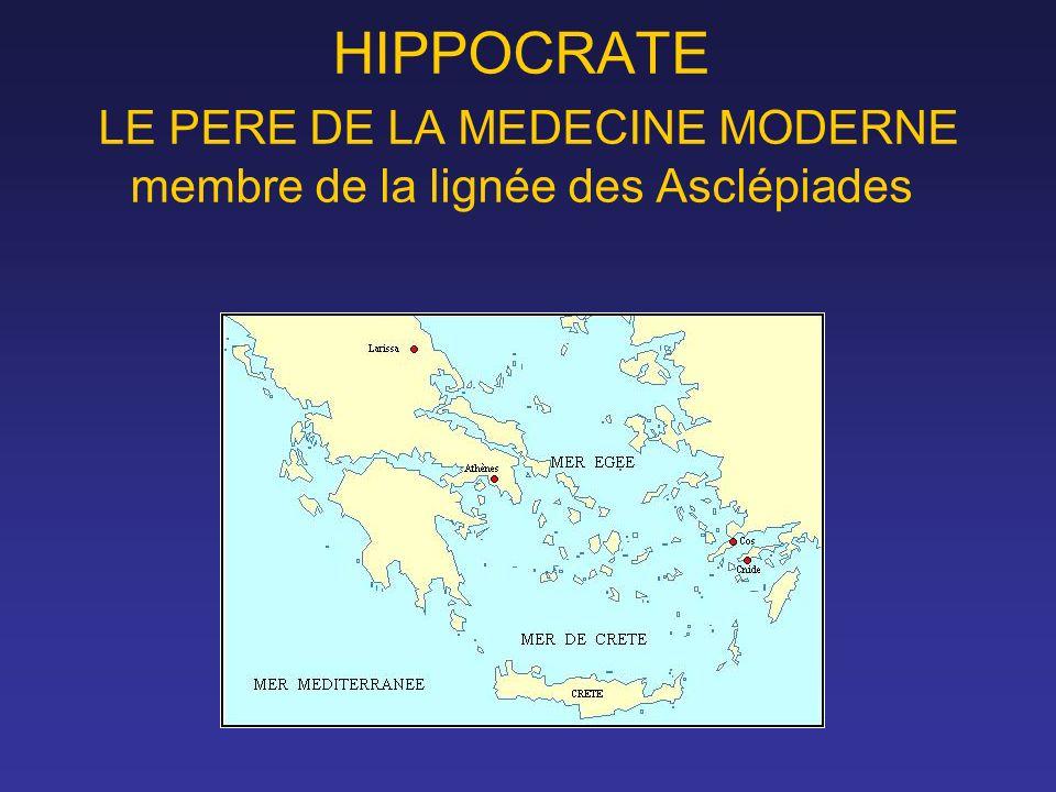 HIPPOCRATE LE PERE DE LA MEDECINE MODERNE membre de la lignée des Asclépiades