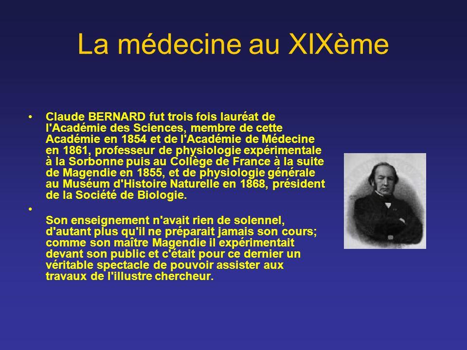 La médecine au XIXème