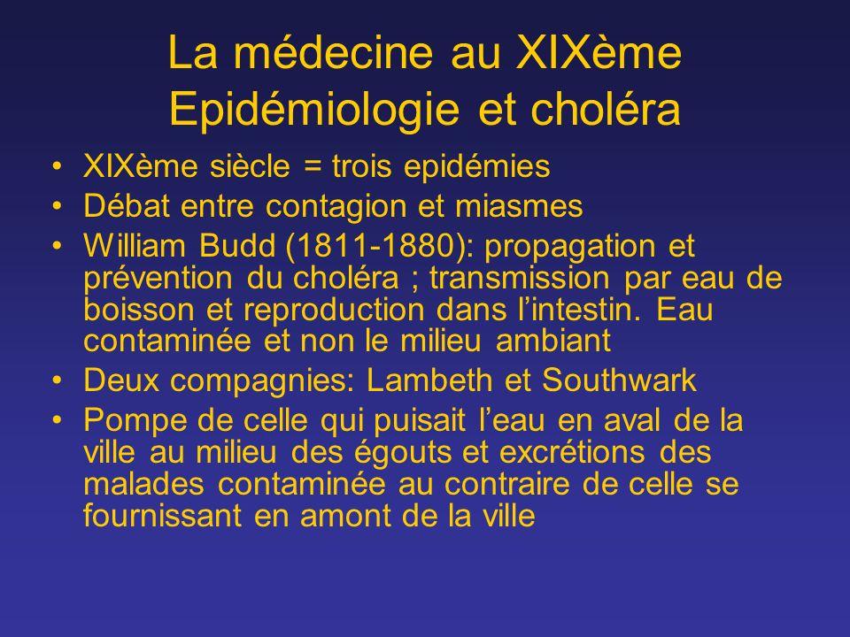 La médecine au XIXème Epidémiologie et choléra