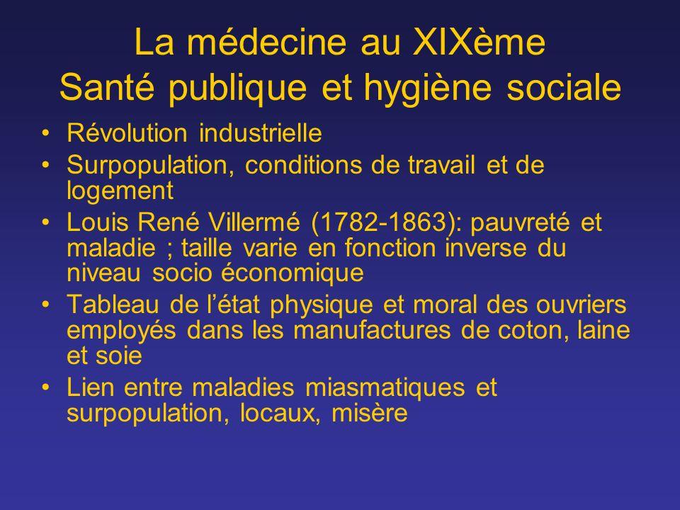 La médecine au XIXème Santé publique et hygiène sociale