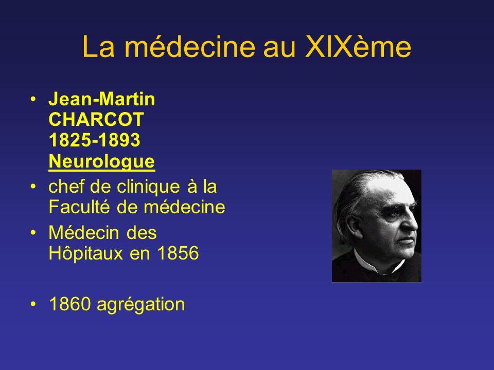 La médecine au XIXème Jean-Martin CHARCOT 1825-1893 Neurologue