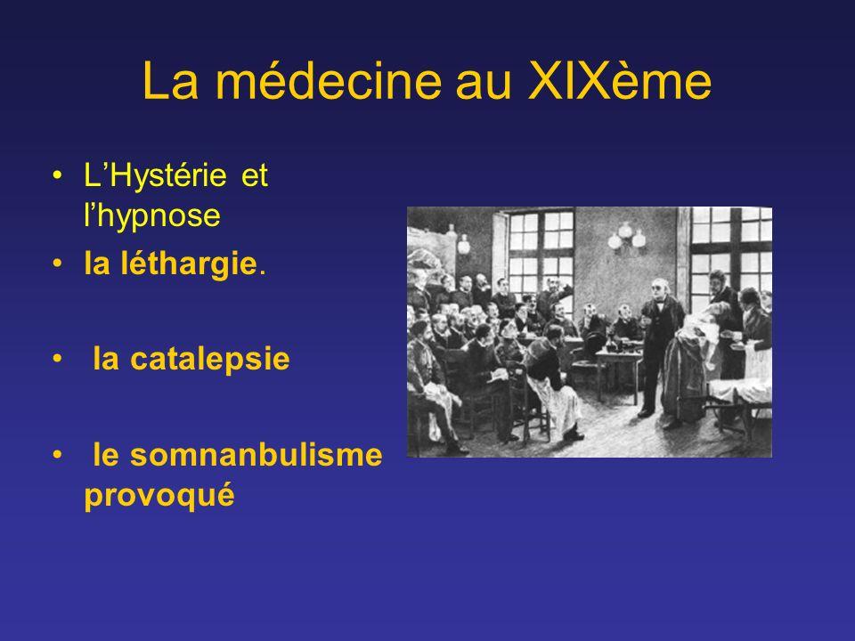 La médecine au XIXème L'Hystérie et l'hypnose la léthargie.