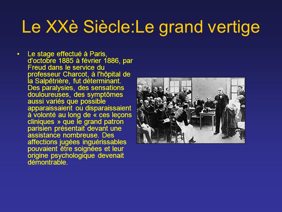 Le XXè Siècle:Le grand vertige