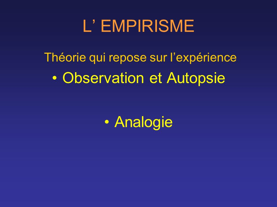 Observation et Autopsie