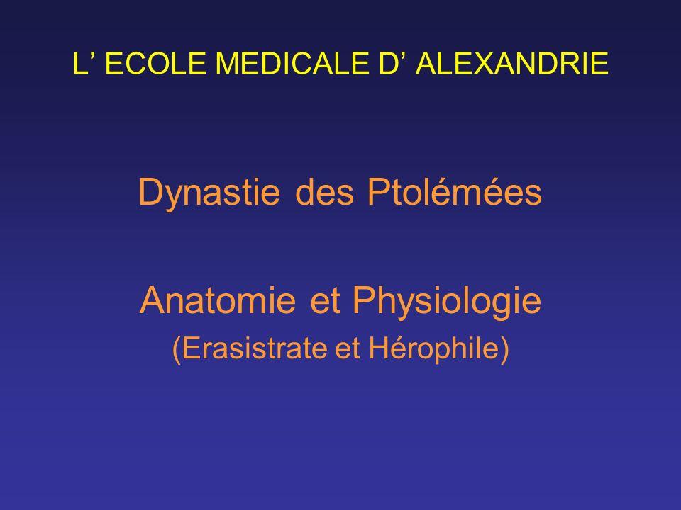 L' ECOLE MEDICALE D' ALEXANDRIE