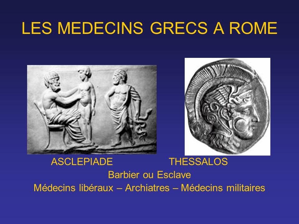 LES MEDECINS GRECS A ROME