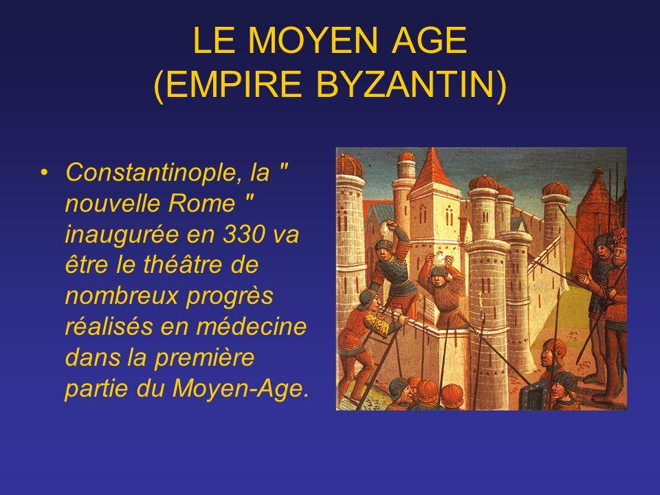 LE MOYEN AGE (EMPIRE BYZANTIN)