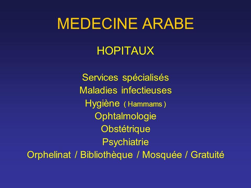 MEDECINE ARABE HOPITAUX Services spécialisés Maladies infectieuses