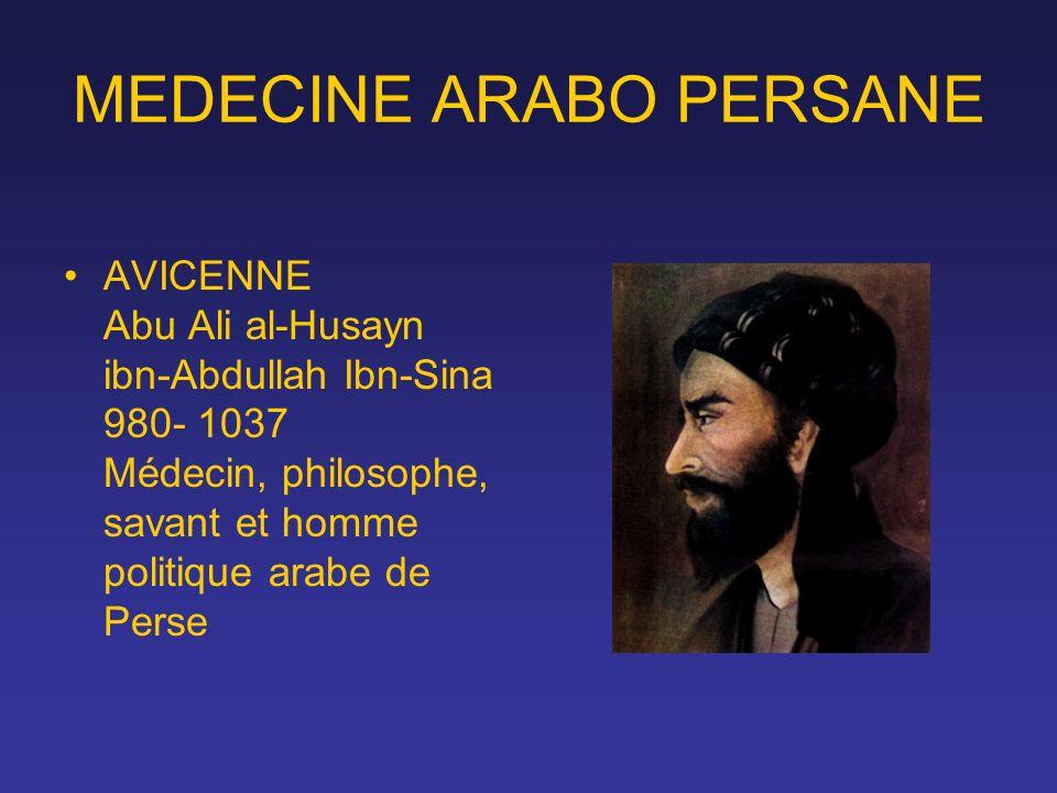 MEDECINE ARABO PERSANE