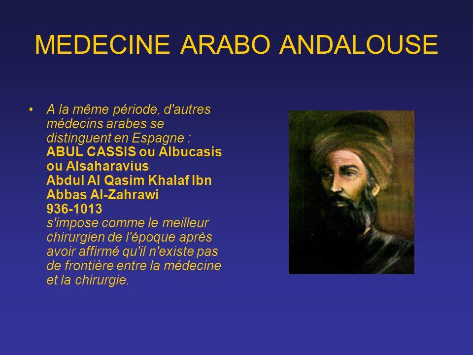 MEDECINE ARABO ANDALOUSE