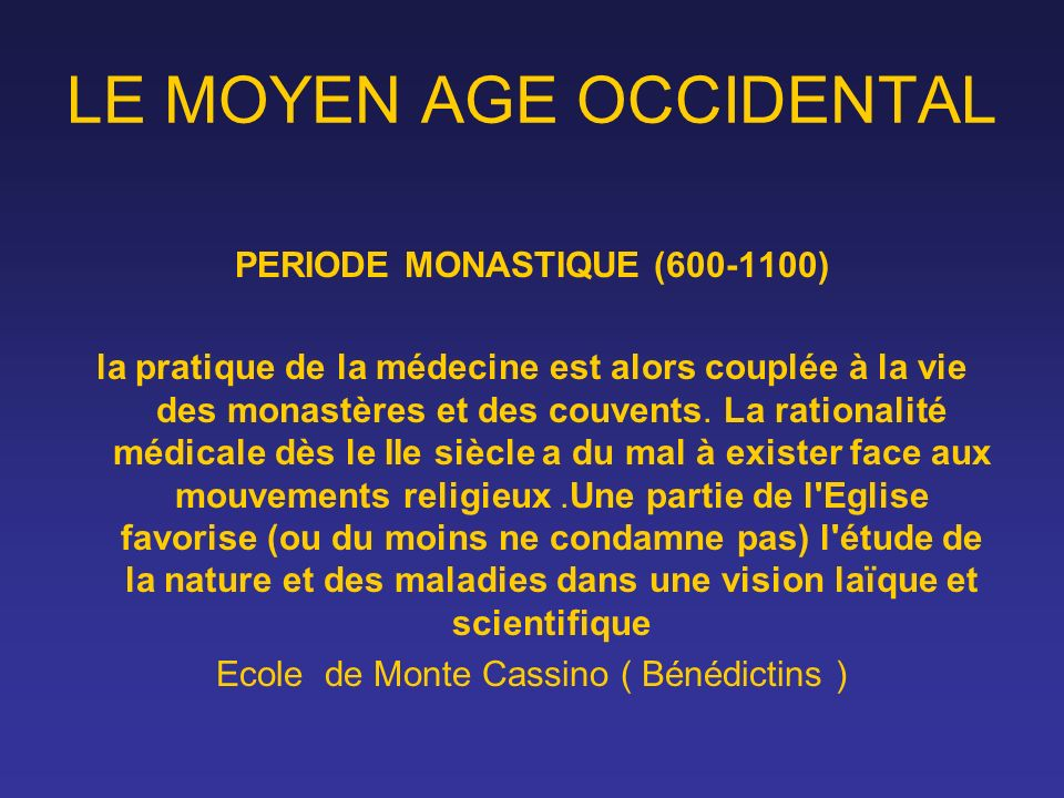 LE MOYEN AGE OCCIDENTAL