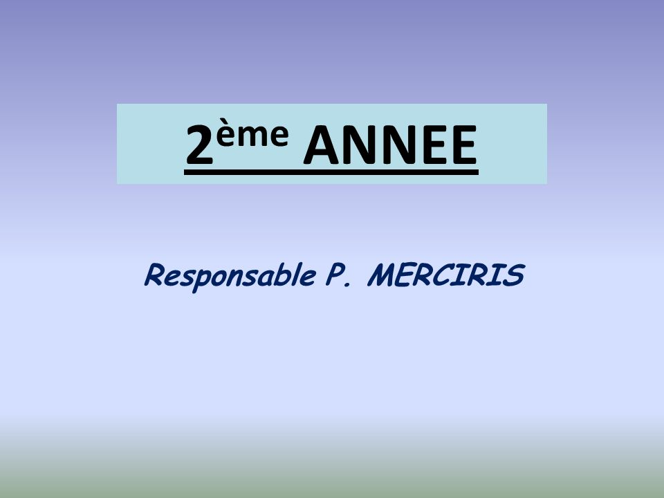 Responsable P. MERCIRIS