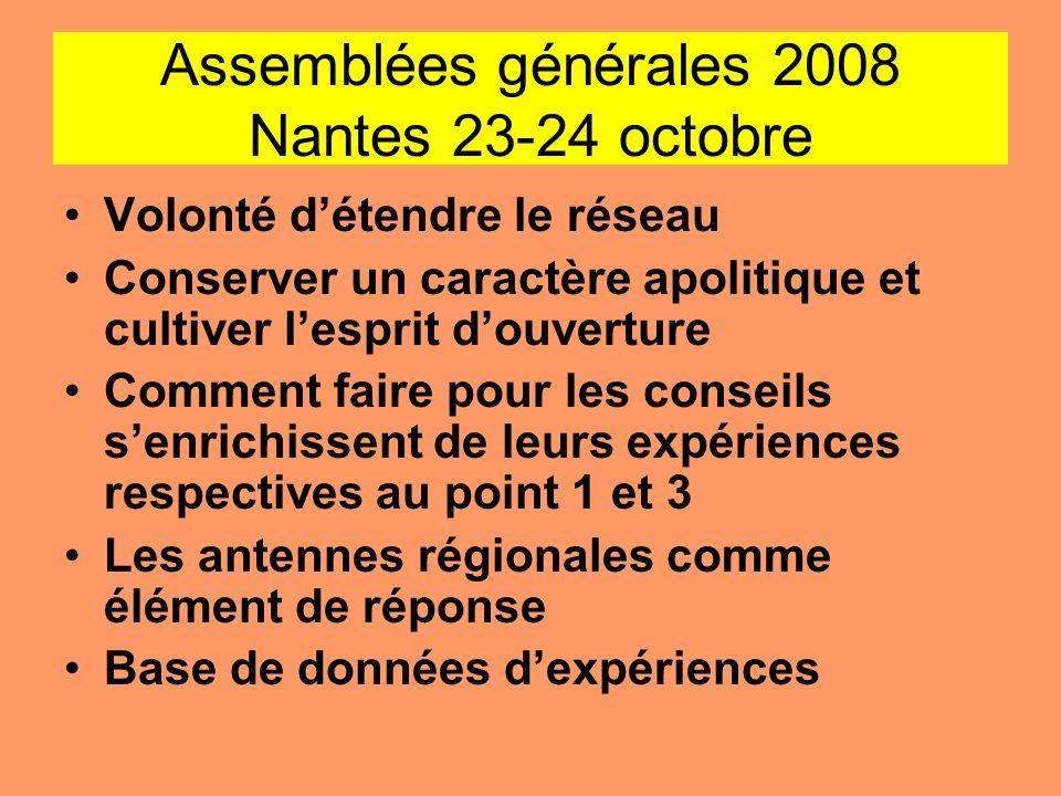 Assemblées générales 2008 Nantes 23-24 octobre