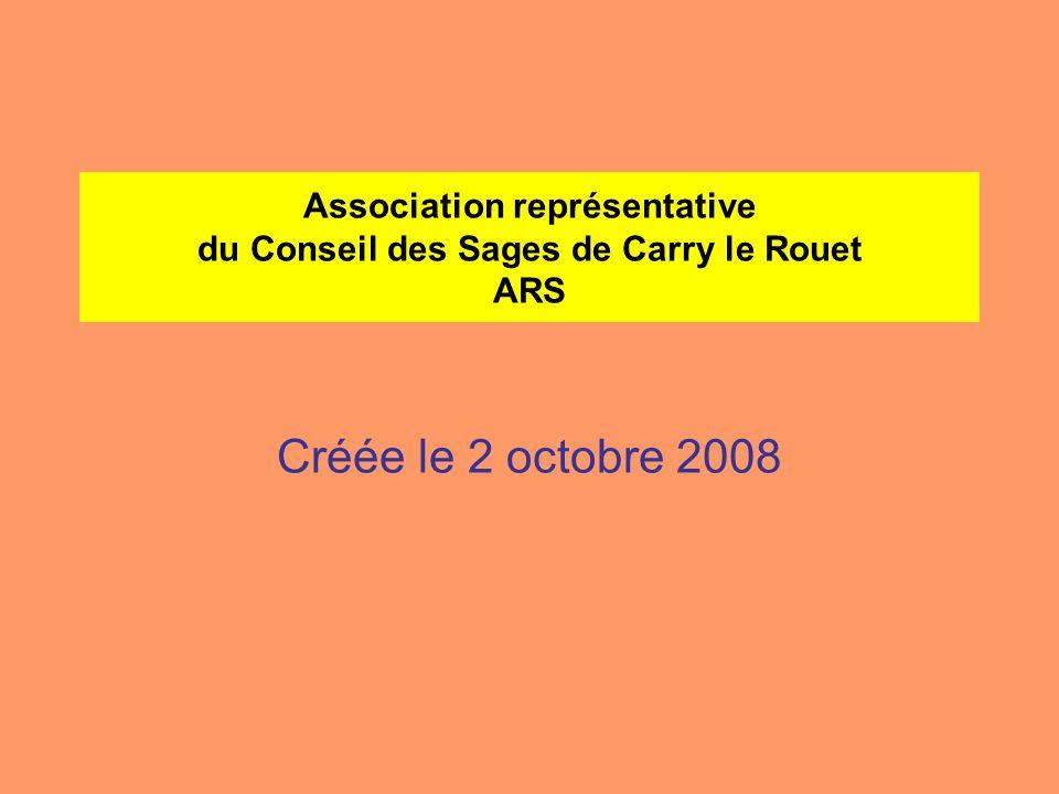 Association représentative du Conseil des Sages de Carry le Rouet ARS