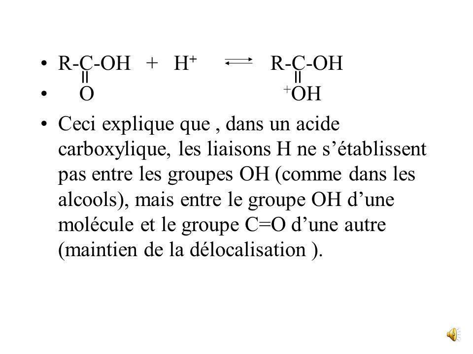 R-C-OH + H+ R-C-OHO +OH.