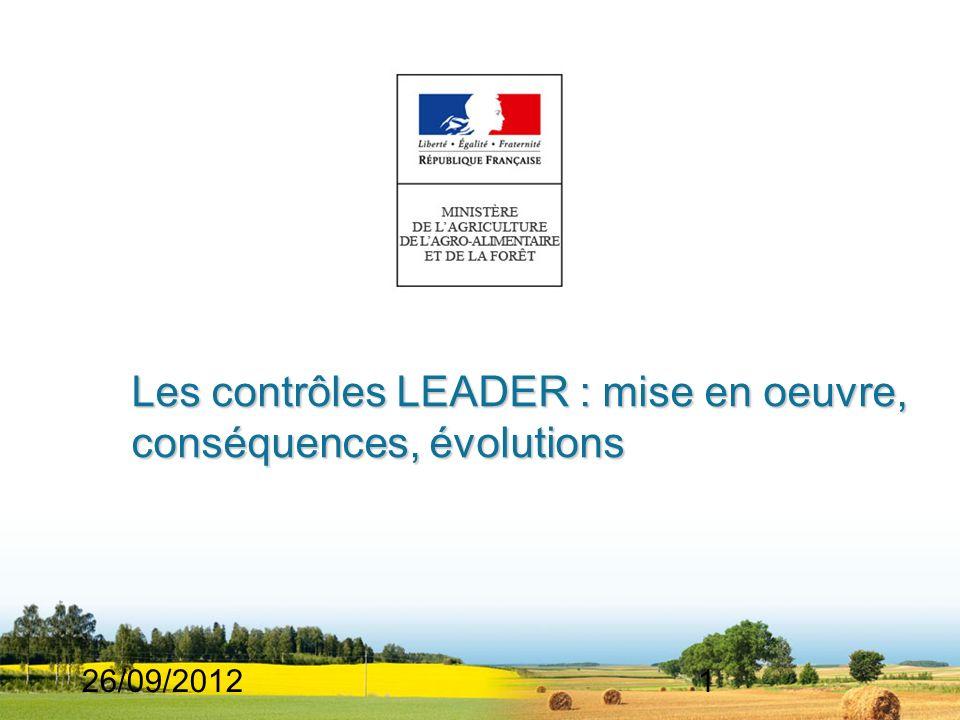 Les contrôles LEADER : mise en oeuvre, conséquences, évolutions
