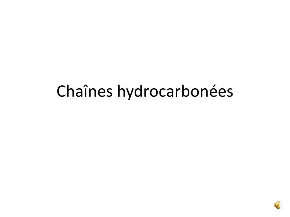 Chaînes hydrocarbonées