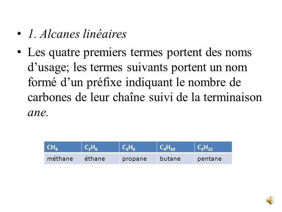 1. Alcanes linéaires
