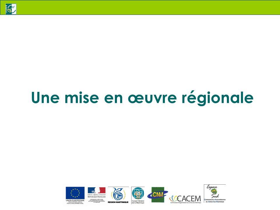 Une mise en œuvre régionale