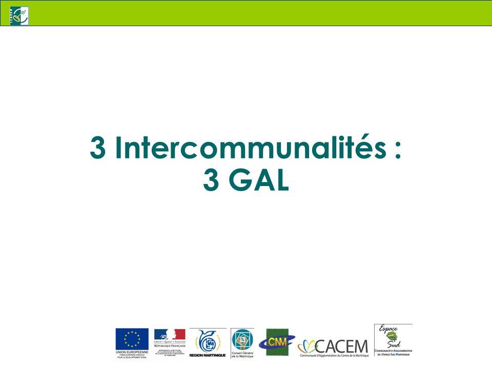 3 Intercommunalités : 3 GAL