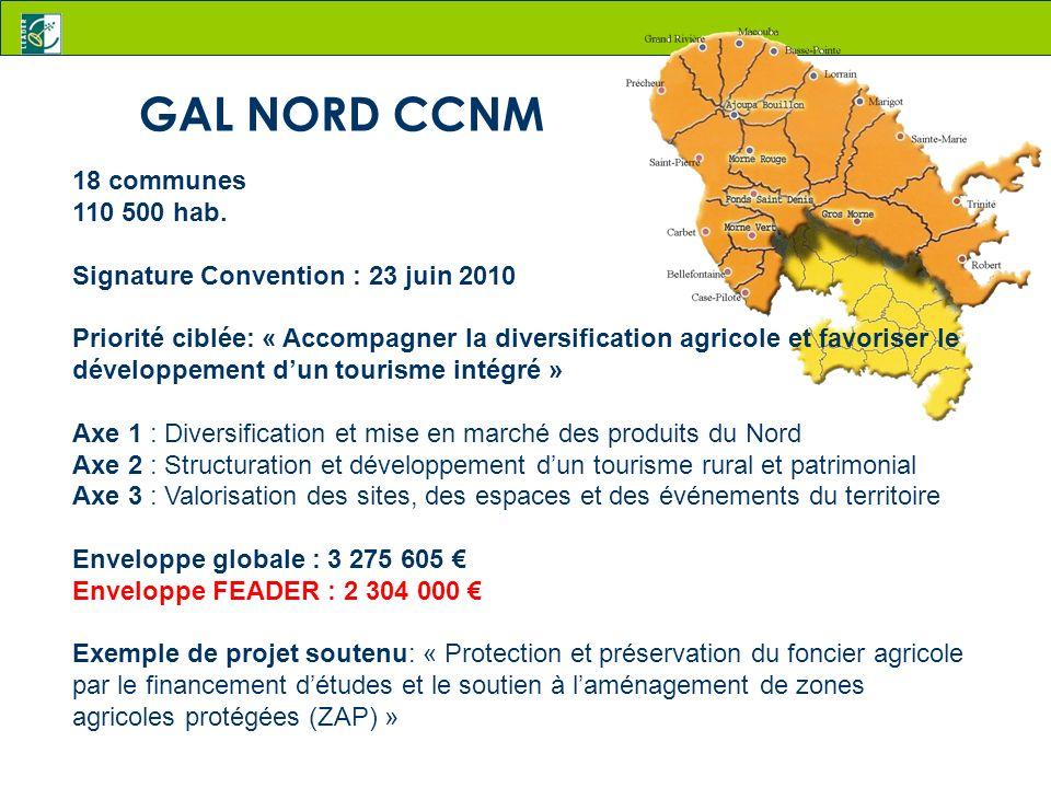 GAL NORD CCNM 18 communes 110 500 hab.