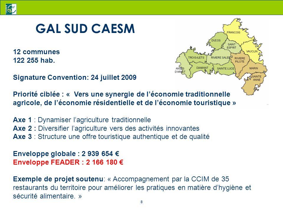 GAL SUD CAESM 12 communes 122 255 hab.