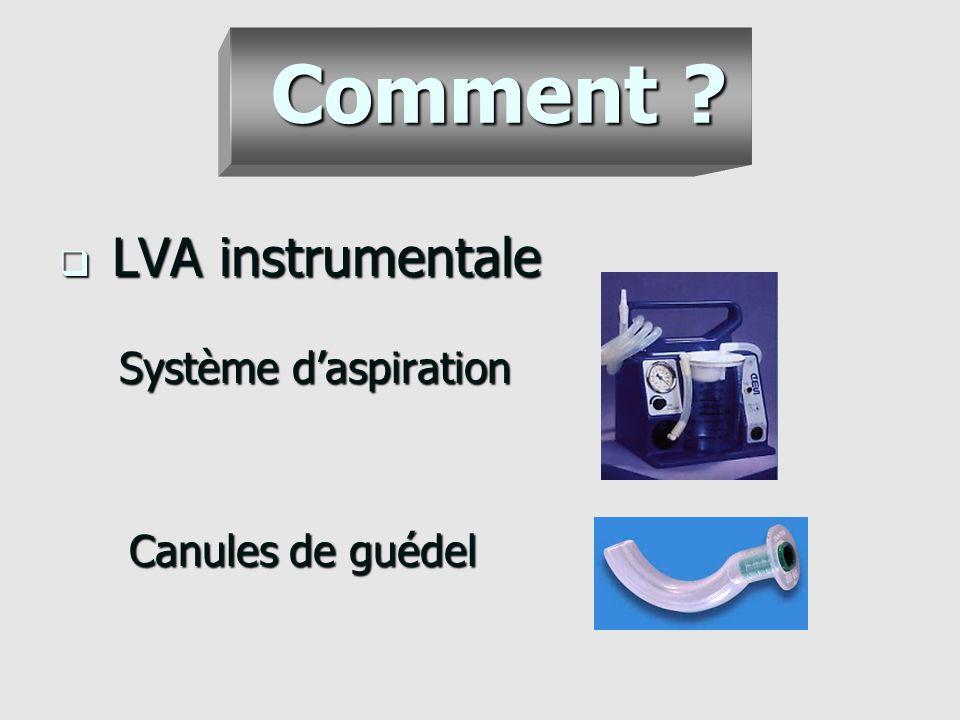Comment LVA instrumentale Système d'aspiration Canules de guédel