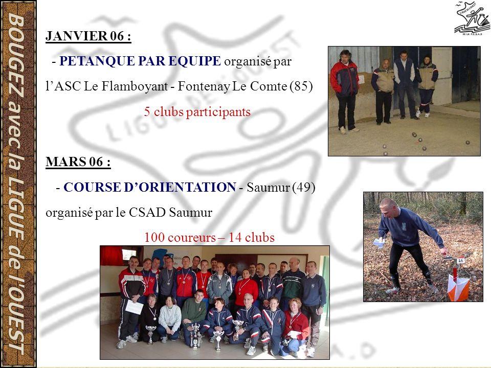 l'ASC Le Flamboyant - Fontenay Le Comte (85) 5 clubs participants