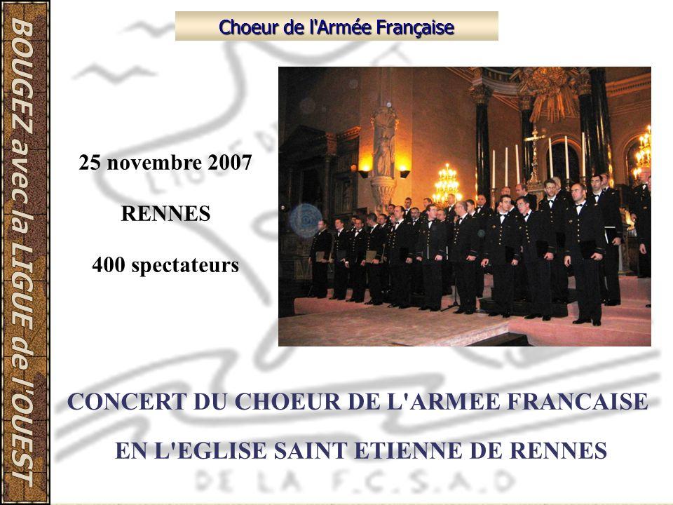 CONCERT DU CHOEUR DE L ARMEE FRANCAISE