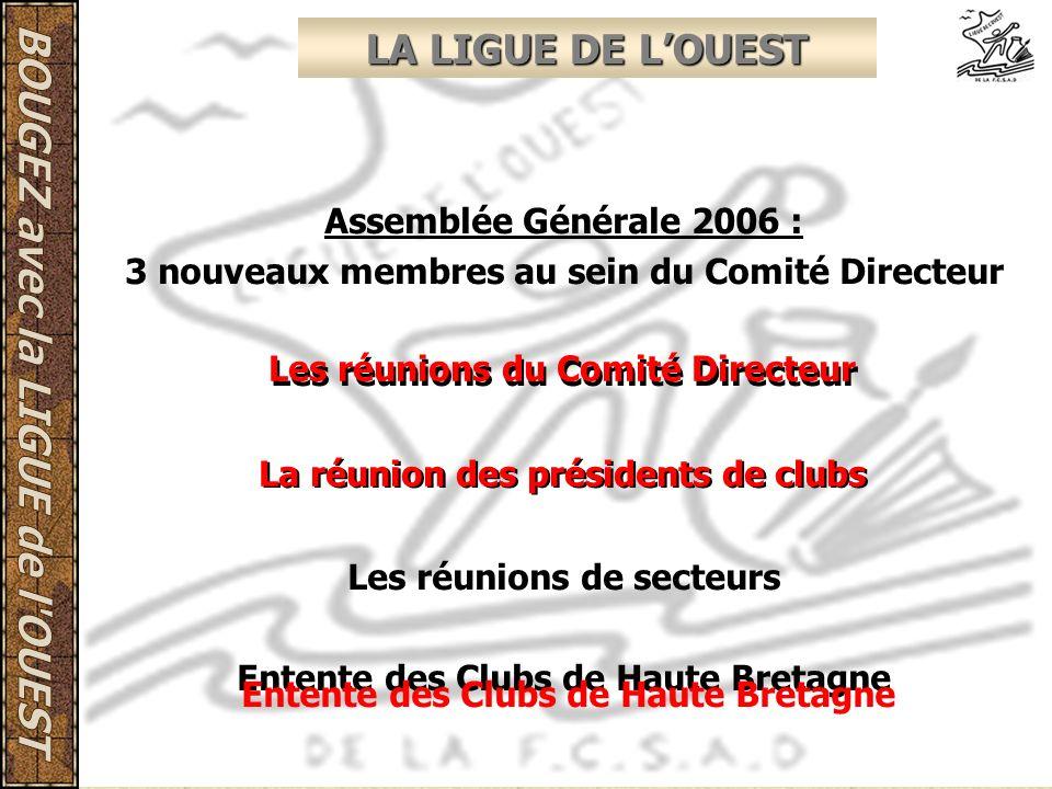 LA LIGUE DE L'OUEST Assemblée Générale 2006 :
