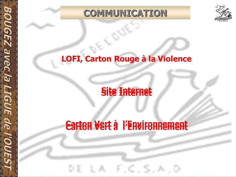 COMMUNICATION LOFI, Carton Rouge à la Violence Site Internet