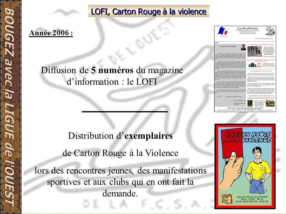 Diffusion de 5 numéros du magazine d'information : le LOFI