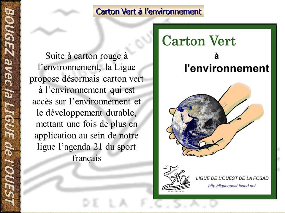 Carton Vert à l'environnement