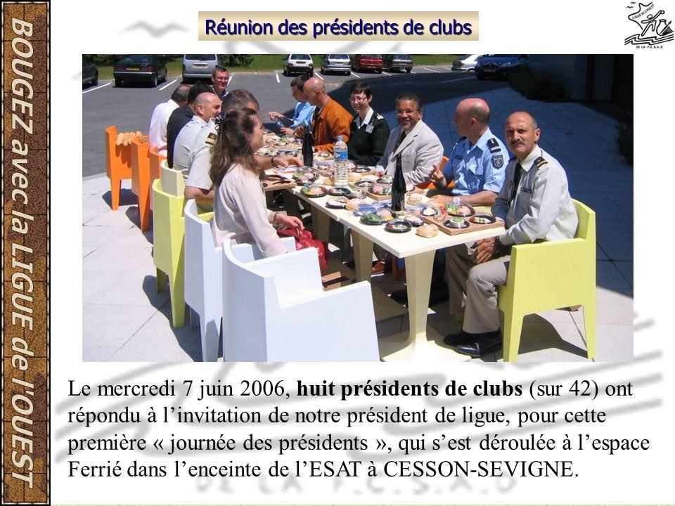 Réunion des présidents de clubs