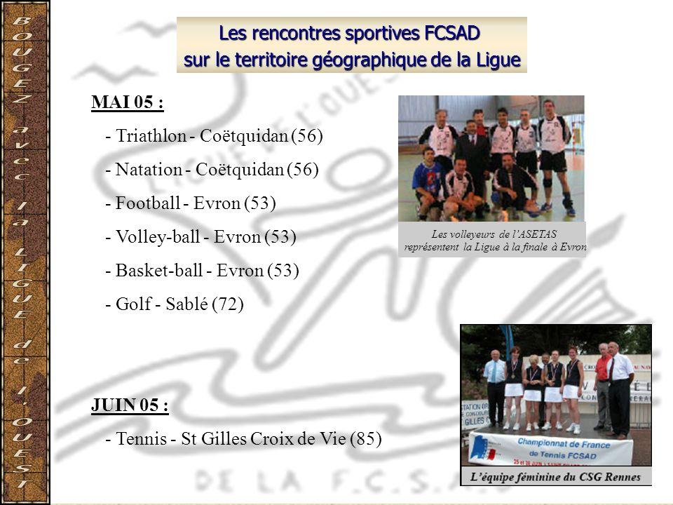 Les rencontres sportives FCSAD