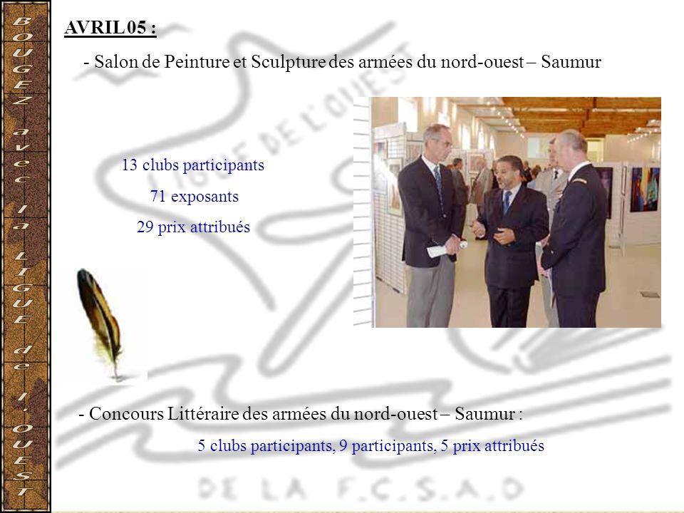 5 clubs participants, 9 participants, 5 prix attribués