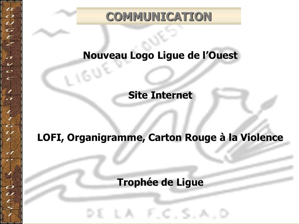 COMMUNICATION Nouveau Logo Ligue de l'Ouest Site Internet