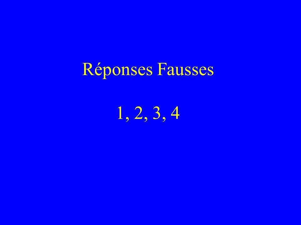 Réponses Fausses 1, 2, 3, 4