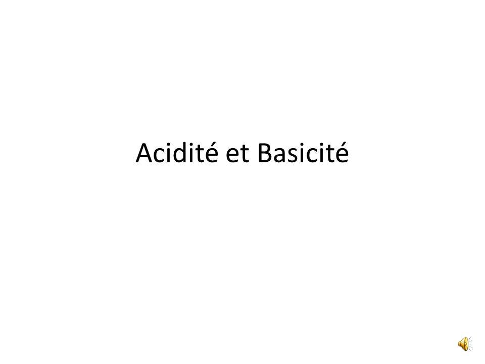 Acidité et Basicité