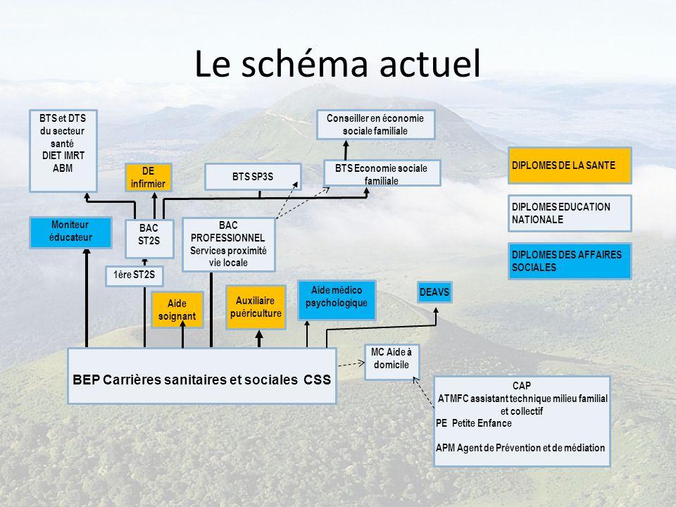 Le schéma actuel BEP Carrières sanitaires et sociales CSS