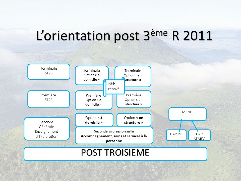 L'orientation post 3ème R 2011