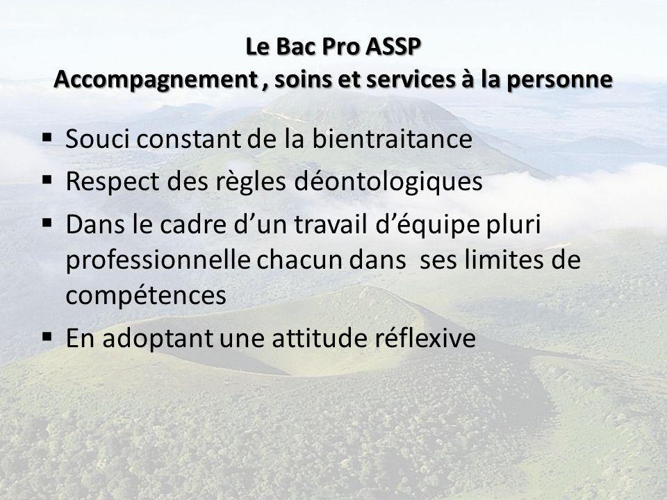 Le Bac Pro ASSP Accompagnement , soins et services à la personne