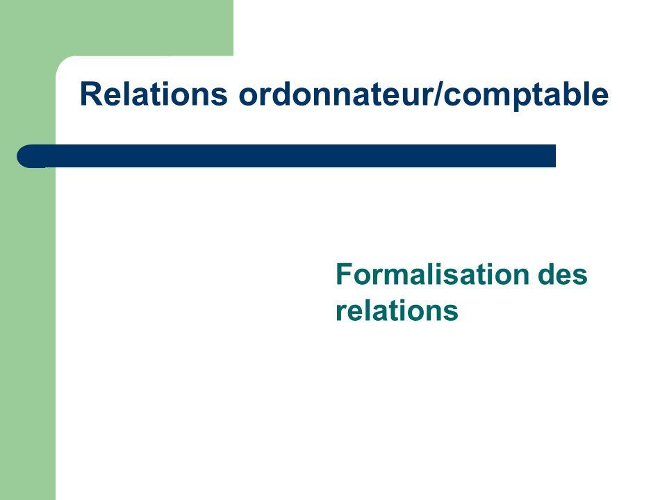 Relations ordonnateur/comptable