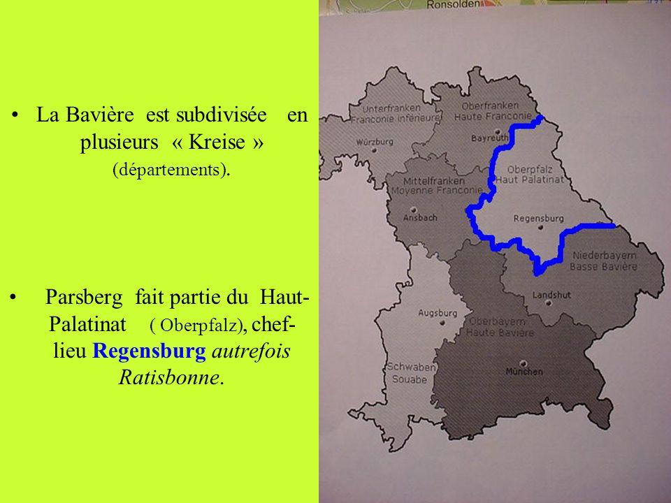 La Bavière est subdivisée en plusieurs « Kreise » (départements).