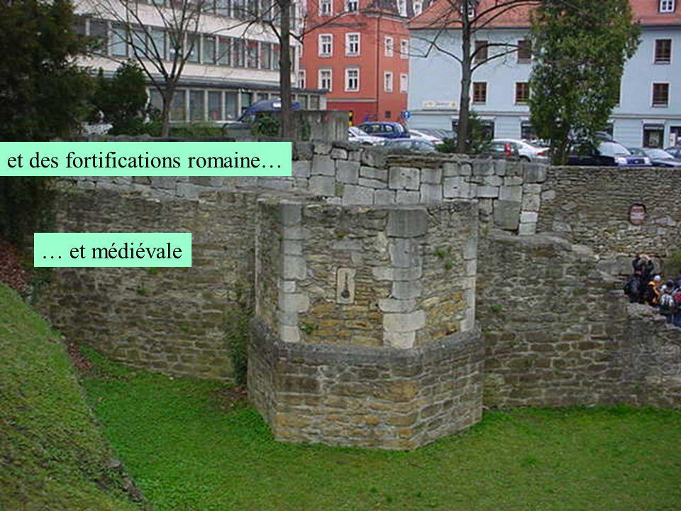 et des fortifications romaine…