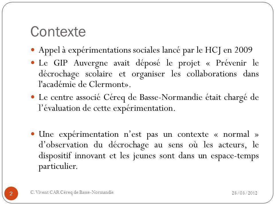 Contexte Appel à expérimentations sociales lancé par le HCJ en 2009