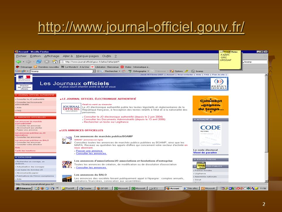 http://www.journal-officiel.gouv.fr/