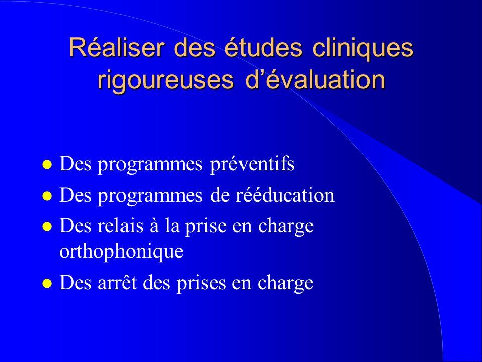 Réaliser des études cliniques rigoureuses d'évaluation