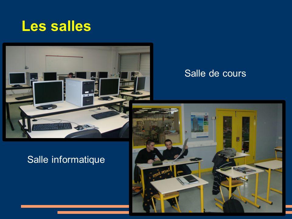 Les salles Salle de cours Salle informatique