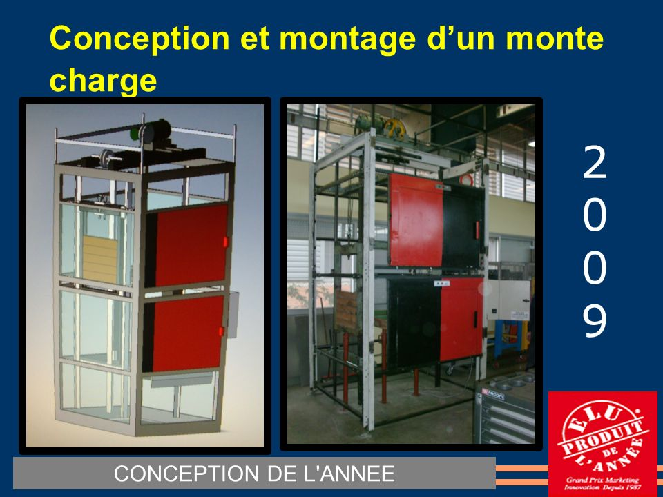 Conception et montage d'un monte charge ‏